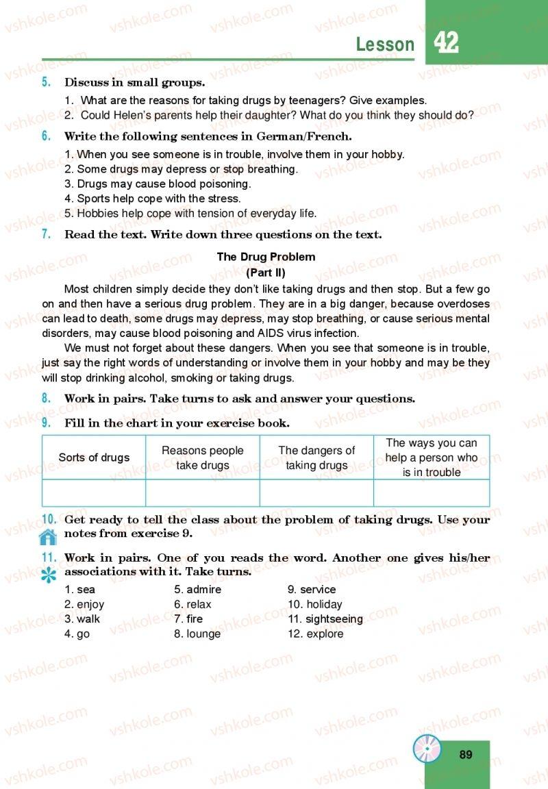 Страница 89 | Учебник Англiйська мова 10 класс М. О. Кучма 2018
