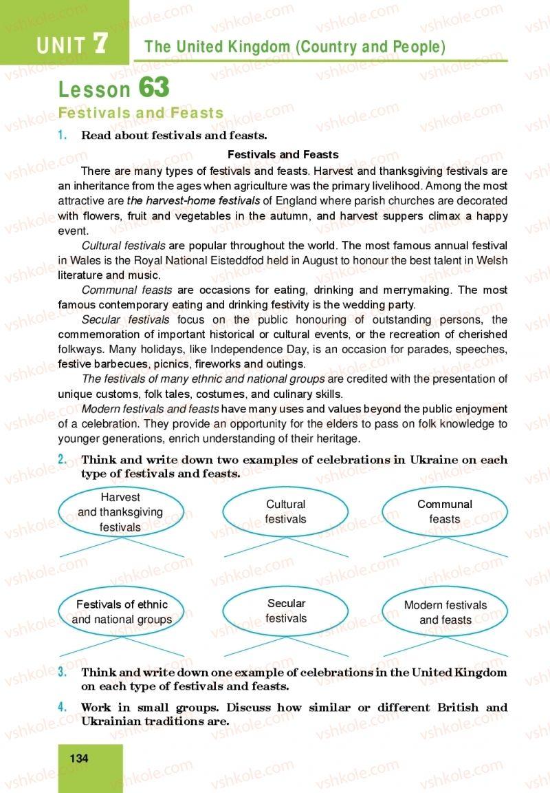 Страница 134 | Учебник Англiйська мова 10 класс М. О. Кучма 2018