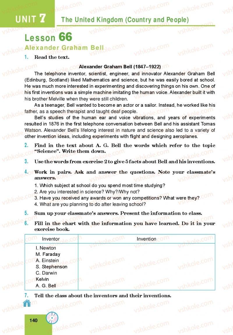 Страница 140 | Учебник Англiйська мова 10 класс М. О. Кучма 2018