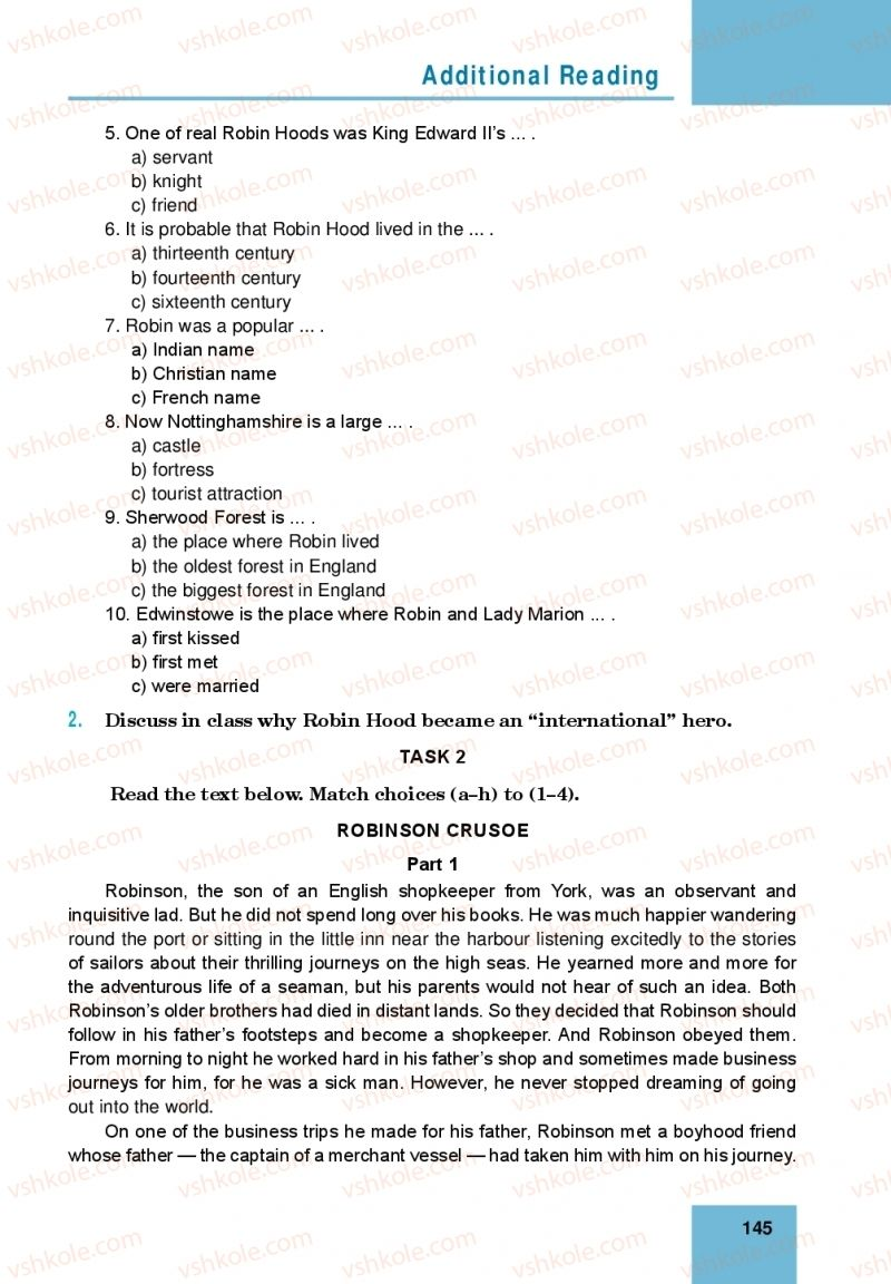 Страница 145 | Учебник Англiйська мова 10 класс М. О. Кучма 2018