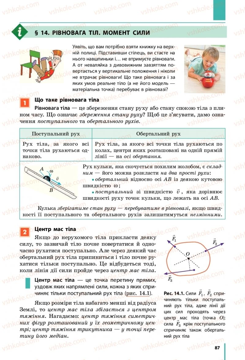 Страница 87 | Учебник Фізика 10 класс В. Г. Бар'яхтар, С. О. Довгий, Ф. Я. Божинова 2018 Рівень стандарту