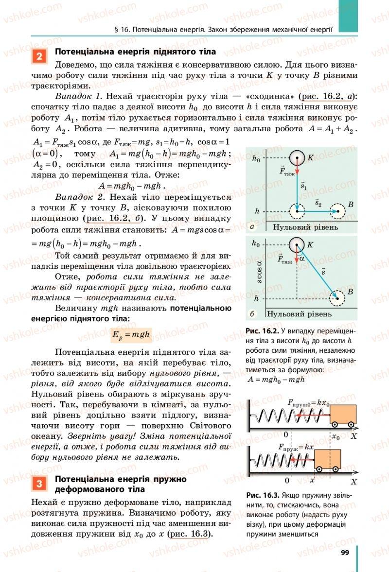 Страница 99 | Учебник Фізика 10 класс В. Г. Бар'яхтар, С. О. Довгий, Ф. Я. Божинова 2018 Рівень стандарту