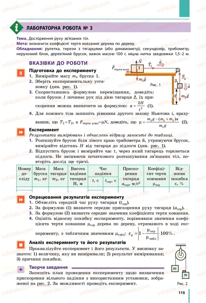 Страница 115 | Учебник Фізика 10 класс В. Г. Бар'яхтар, С. О. Довгий, Ф. Я. Божинова 2018 Рівень стандарту