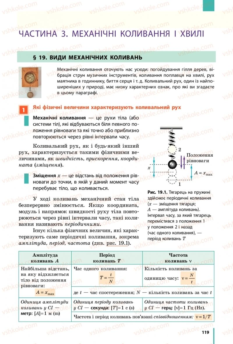 Страница 119 | Учебник Фізика 10 класс В. Г. Бар'яхтар, С. О. Довгий, Ф. Я. Божинова 2018 Рівень стандарту