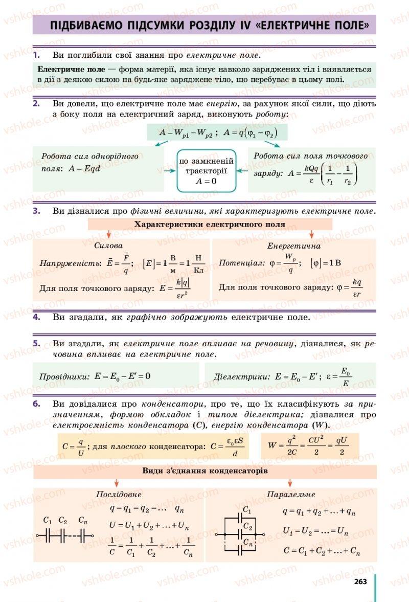 Страница 263 | Учебник Фізика 10 класс В. Г. Бар'яхтар, С. О. Довгий, Ф. Я. Божинова 2018 Рівень стандарту