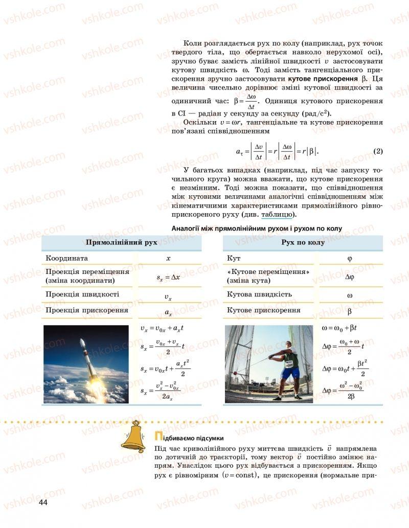 Страница 44 | Учебник Фізика 10 класс  І. М. Гельфгат 2018