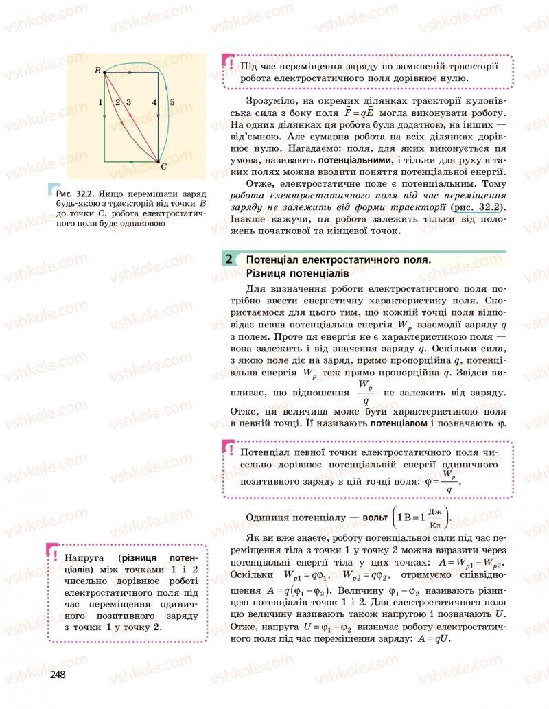 Страница 248   Учебник Фізика 10 класс  І. М. Гельфгат 2018